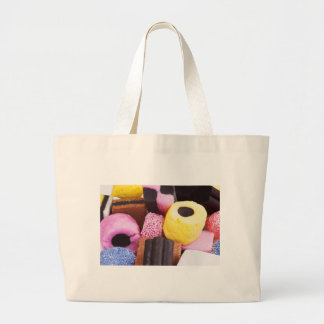 famous sweets of Liquorice Large Tote Bag