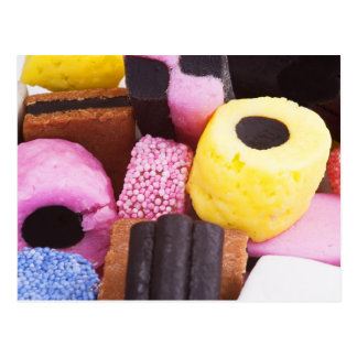 famous sweets of Liquorice Postcard