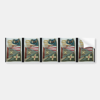 Famous Union Battle Flags - Plate 1 - Car Bumper Sticker
