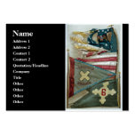 Famous Union Battle Flags - Plate 1 - Business Card Template