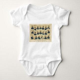 Famous Union Commanders of the Civil War Baby Bodysuit