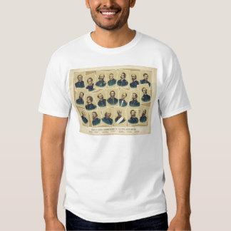 Famous Union Commanders of the Civil War Tshirts