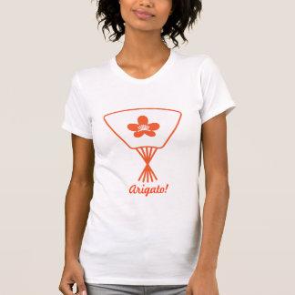 Fan Cherry Blossom Orange Arigato! Shirts