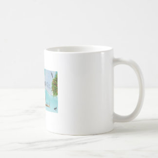 "Fan cup of ""air mail between day and night "" coffee mug"