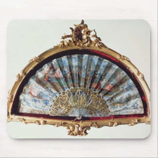 Fan decorated with a scene of a fete mousepads