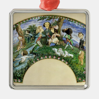 Fan depicting George Sand  and her friends Christmas Ornament