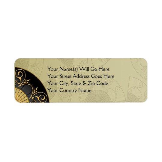 Fan Elegant (Moss) Return Address Labels