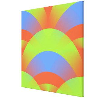 Fan FanCisco Neon Abstract Green Blue Orange Canvas Print