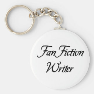 Fan Fiction Writer Basic Round Button Key Ring