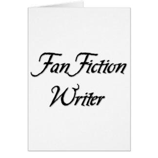 Fan Fiction Writer Greeting Card