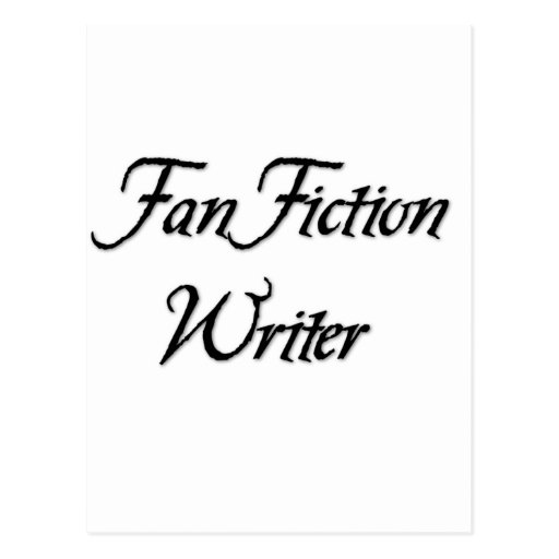 Fan Fiction Writer Postcard