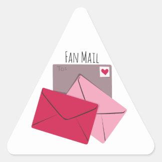 Fan Mail Triangle Sticker