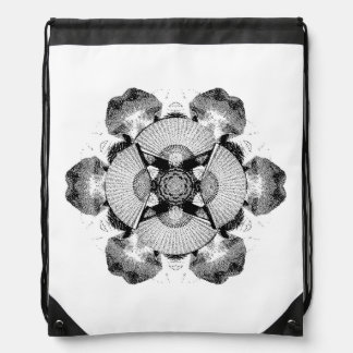 Fan Mandala Drawstring Backpack