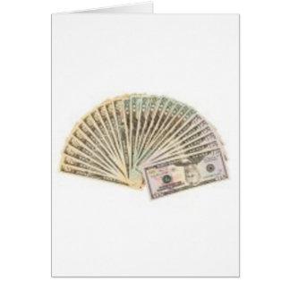 Fan of dollars card