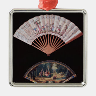 Fan of Vernis Matin type, French, mid-18th Christmas Ornament