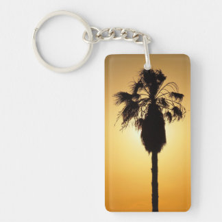 Fan Palm silhouette keychain