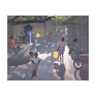 Fan Seller Malindi Kenya 1995 Canvas Print
