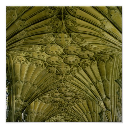Fan vaulting in the cloister poster