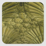 Fan vaulting in the cloister square sticker