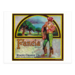 Fancia Brand Citrus Crate Label Post Cards