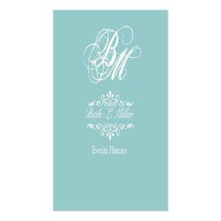 Fancier Curls Monogram Pack Of Standard Business Cards