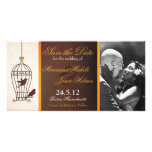 Fanciful Birdcage Autumn Orange Save the Date