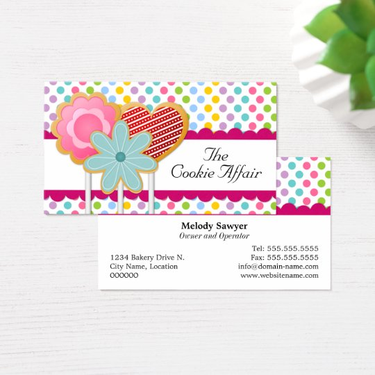 Fanciful Cookie Pops Business Card
