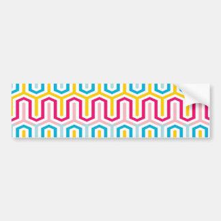 Fanciful Greek Arcade Pattern Car Bumper Sticker