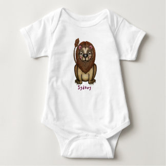 Fanciful Lion Graphic Baby Bodysuit