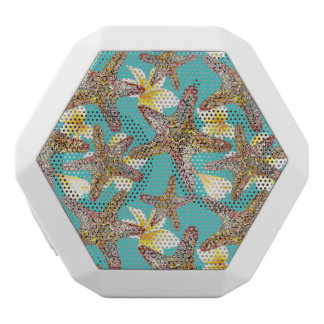 Fanciful Starfish Pattern White Bluetooth Speaker