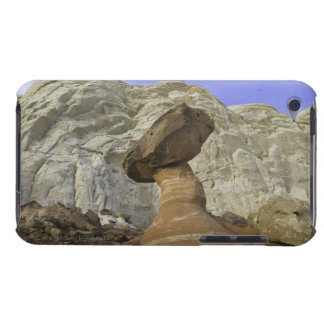 Fanciful toadstool shape of eroded red and white barely there iPod cover