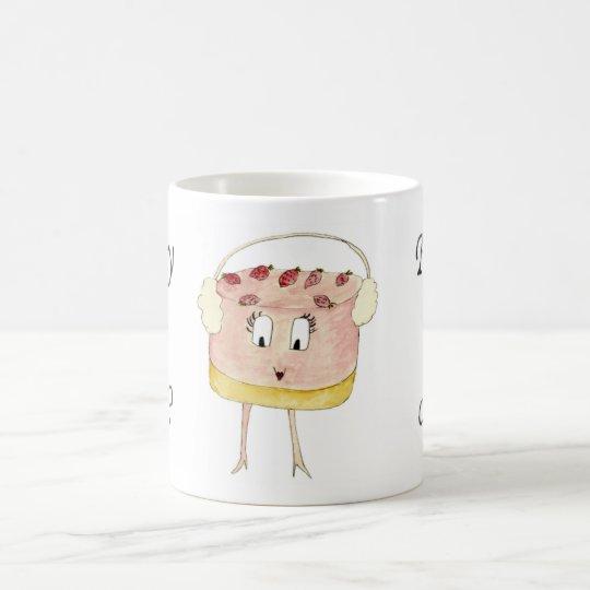 Fancy a Cake Funny Strawberry Cheesecake Cute Art Coffee ...