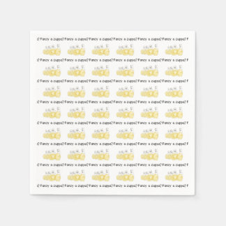 Fancy a Cuppa Funny Biscuit Police Watercolour Art Paper Napkin