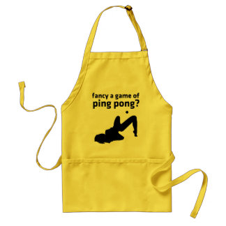 fancy a game of ping pong? standard apron