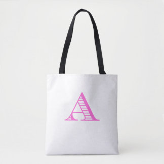 fancy A in pink Tote Bag