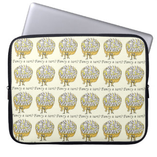 Fancy a Tart Funny Lemon Meringue Pie Quirky Art Laptop Sleeve