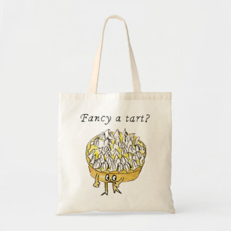 Fancy a Tart Funny Lemon Meringue Pie Quirky Art Tote Bag