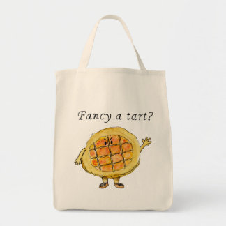 Fancy A tart Funny Slogan Quirky Treacle Tart Art Tote Bag