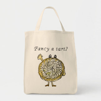 Fancy a Tart Funny Slogan Tart Tartin Quirky Art Tote Bag