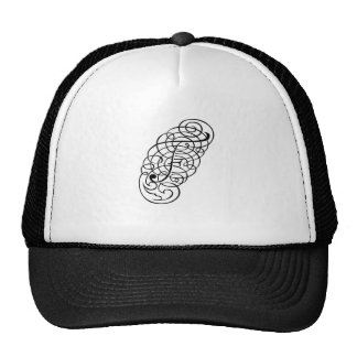 """Fancy Alpha Caps"" F Hat"