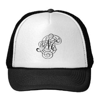 """""""Fancy Alpha Caps"""" M Hat"""