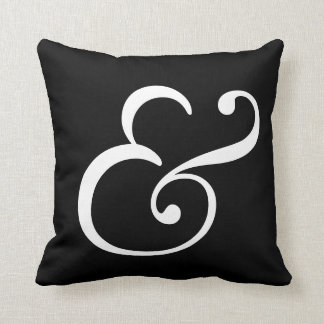 Fancy Ampersand Throw Pillow