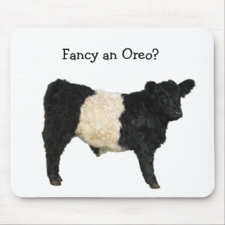 Fancy an Oreo? Belted Galloway Cow Mouse Mat