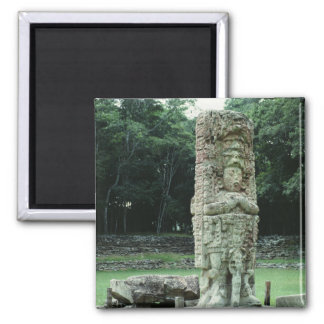 Fancy Ancient Mayan Ruins Square Refrigerator Magnet