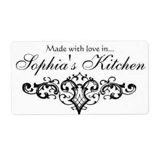 Fancy and Elegant Personalized Name Shipping Label