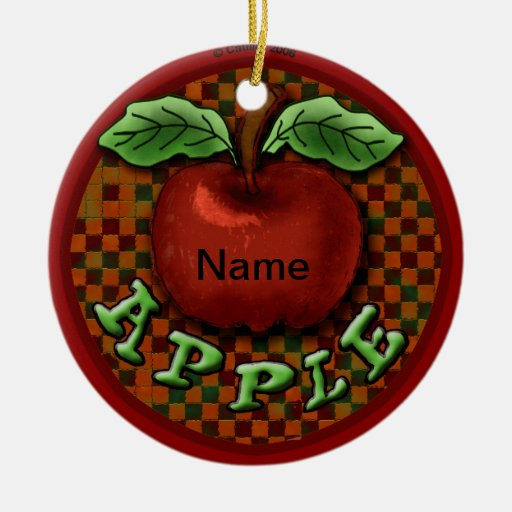 Fancy Apple Christmas Tree Ornaments