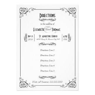 Fancy Art Deco Black White Insert Card