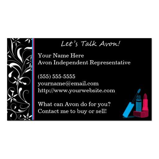 Fancy Avon Business Card