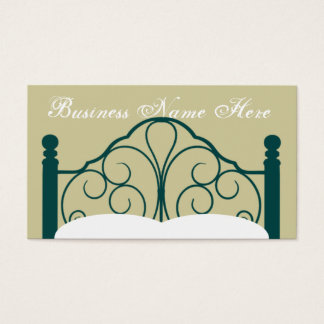Fancy Bed Frame Graphic with Pillows Business Card