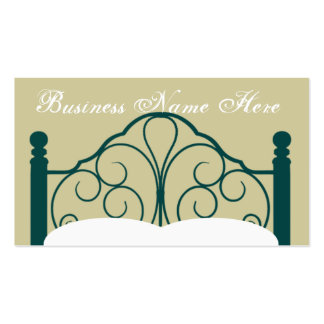 Fancy Bed Frame Graphic with Pillows Pack Of Standard Business Cards